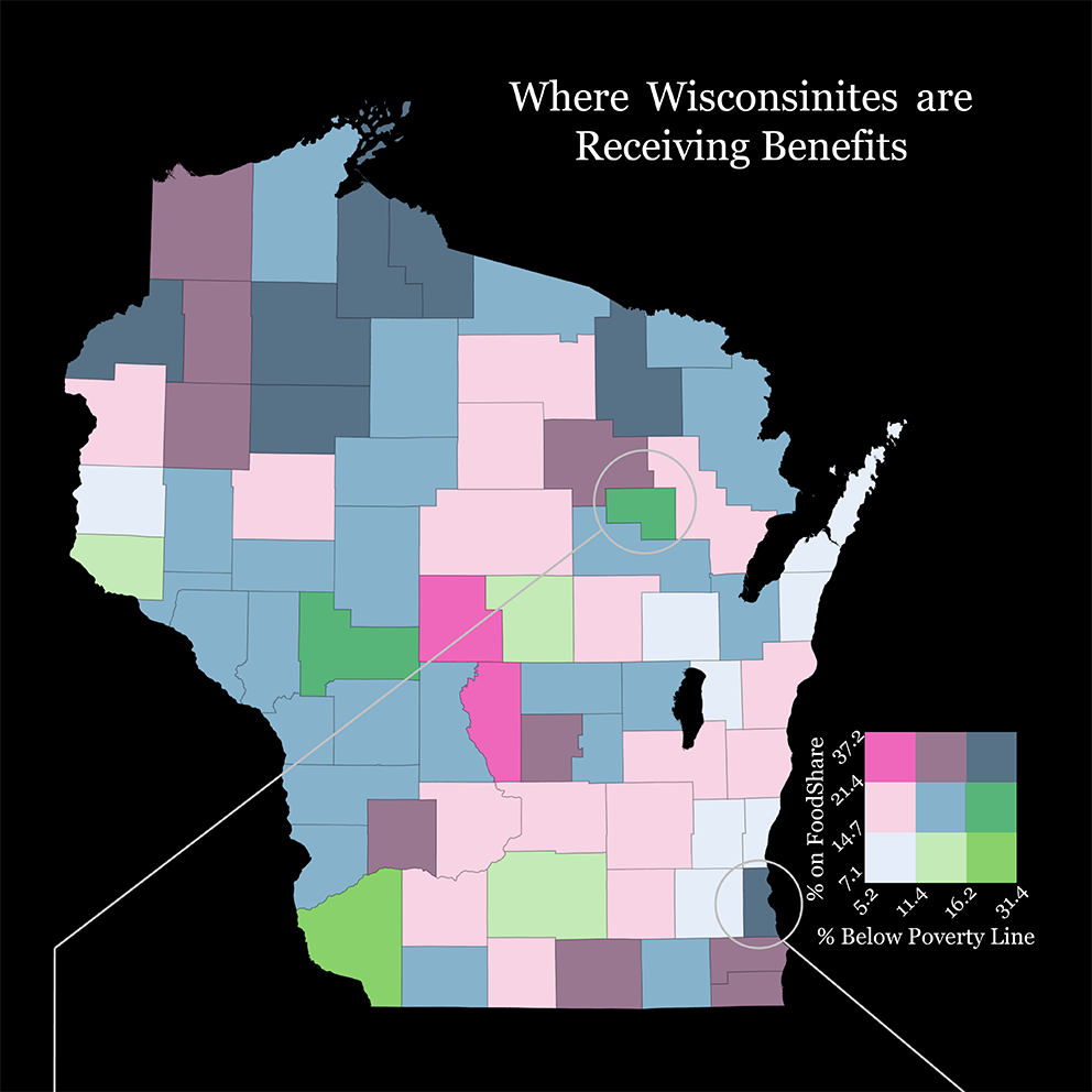 Poverty and FoodShare in WI Infographic